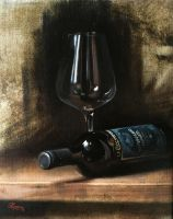 Wine Glass Study, Montepulciano by RBGuerra