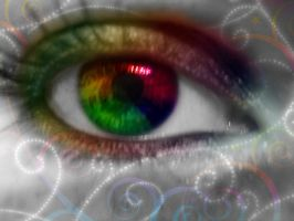 My rainbow eye by LT-Arts