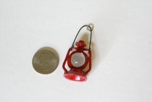 Little Red Lantern Pendant by MonsterBrandCrafts