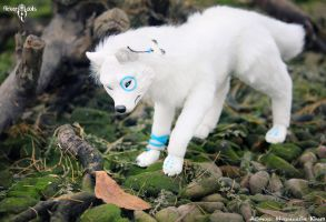 White wolf Pakshi by Flicker-Dolls