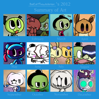 2012 Art Summary by PrettyTak