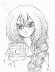 Mahel and her camera by Cypernelli