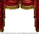 Paper Theater Curtain - Ruby by EveyD