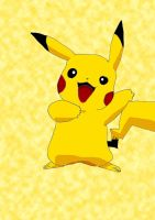 Pikachu -Coloured- by Pantheiros