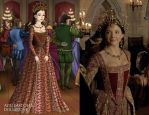 Anne's red ballgown by LadyAquanine73551