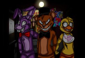 Five-Nights-At-FREDDY'S_sonicathedraki by Sonica-The-Draki
