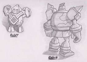 Golett and Golurk - Sketch