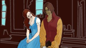 Rumbelle_can't at least know you_colour by littlescargirl