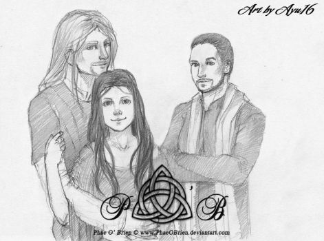 Norick, Rithiell and Hasar by PhaeOBrien