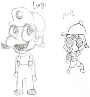 luigi and ness by firestar1234