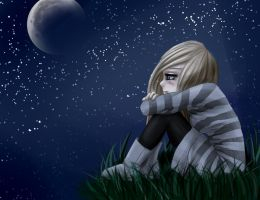 alone with the moon by Lizalot