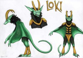 Loki Character Sheet and Costume Design by CuriousCreatures
