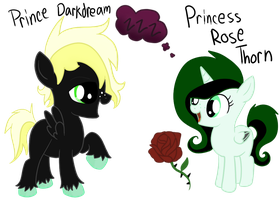Prince DarkDream and Princess Rose Thorn by LullabyPrince