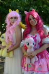 Fluttershy and Pinkie Pie by WolfyTook