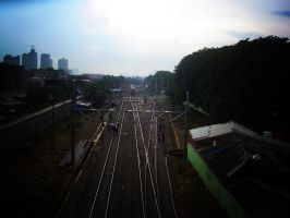 Old Kebayoran Station by remuru