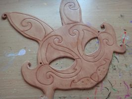 March Hare leather mask WIP by Masktastic