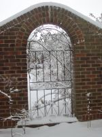 Snowy gate. by tightlippedsmile