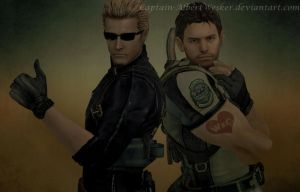 Wesker x Chris by Captain-AlbertWesker