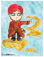Chibi Adult Gaara by Sandy--Apples