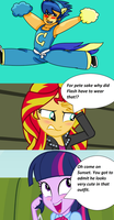 Twilight and Sunset's Reaction To Flash As A Cheer by T-mack56