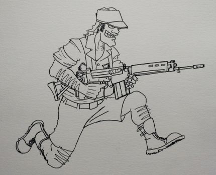 Rhodesian soldier by mcnipples