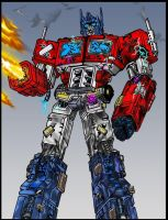 B.D Optimus Prime Coloured by Gambits-Wild-Card