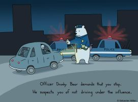 Officer Drunky Bear by sebreg