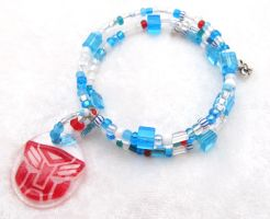 Mirage memory wire bracelet by evilkillerpoptarts