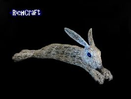 Lazy rabbit Sculpture new Tricias 3 by braindeadmystuff