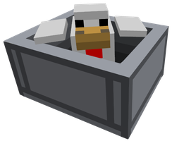 Chicken In A Minecart by atagene