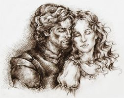 Lancelot and Guinevere by Ginger-snuffkin