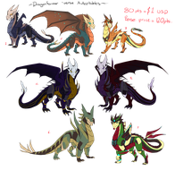 Dragonformers Adoptables - CLOSED by JazzTheTiger