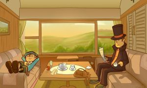 Professor Layton - A Break by Pablo-M