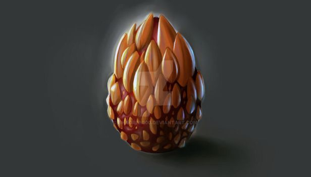 Dragon Egg concept painted by shaoran100