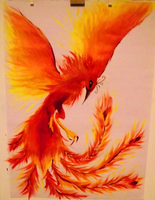 Phoenix painting by Nymph-y