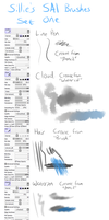 Custom Brushes - SAI by choco-kye