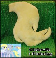 Derpy Hooves Inspired Shannon Minky Tail by PrimmRose