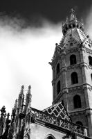 St Stephen's Tower. Monochrome by johnwaymont