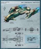 SUBWAR - Enemy Fighter by Hideyoshi
