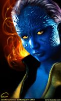 Jennifer Lawrence as Mystique in X-Men by ShanaGourmet