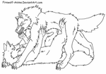 Wolf Pin Line Art by Firewolf-Anime