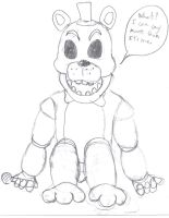 AU-Golden Freddy-WIP by CrossoverGamer