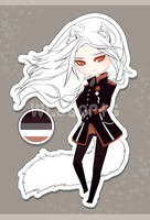 white fox military adoptable - CLOSED by SoukiAdopts