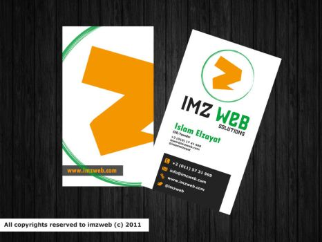 IMZ web Solutions BCard by Ma7moudMetwally