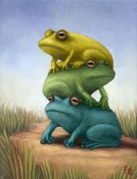 Frogpile by FredGray