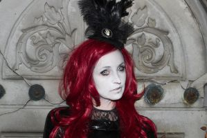 Stock -  Vampire lady red hair portrait 4 by S-T-A-R-gazer