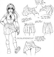 Sailor Skirt Tutorial by KoalaTheArtist