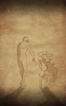 Lil girl and the shadow filler page by Master-sweez