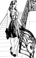 Lady in the stairs by SL1Cer