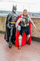 Batman and Thor cosplay by Studio5Graphics